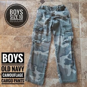 Boys Old Navy Camouflage Cargo Pants
